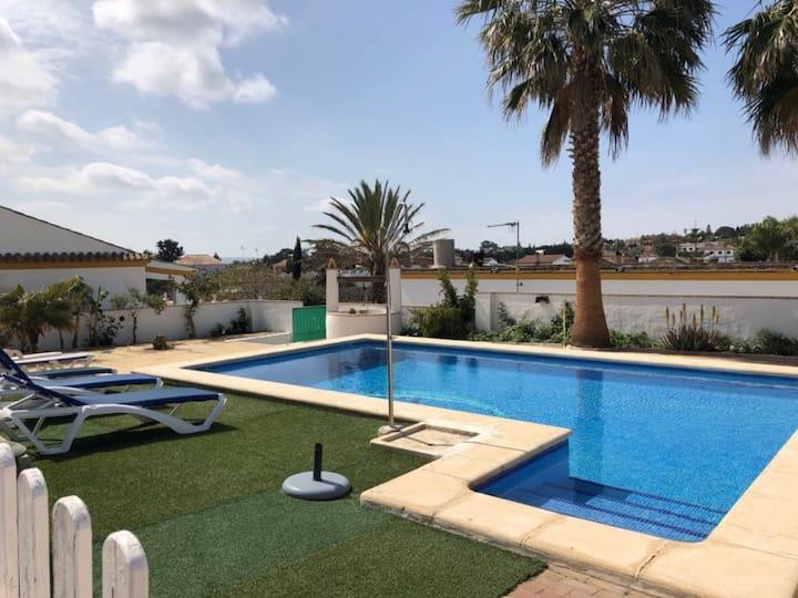 El chalet con piscina privada