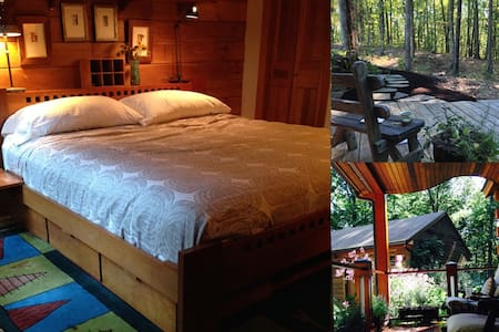 Suite in Beautiful Log Cabin - Pepperell - Mökki