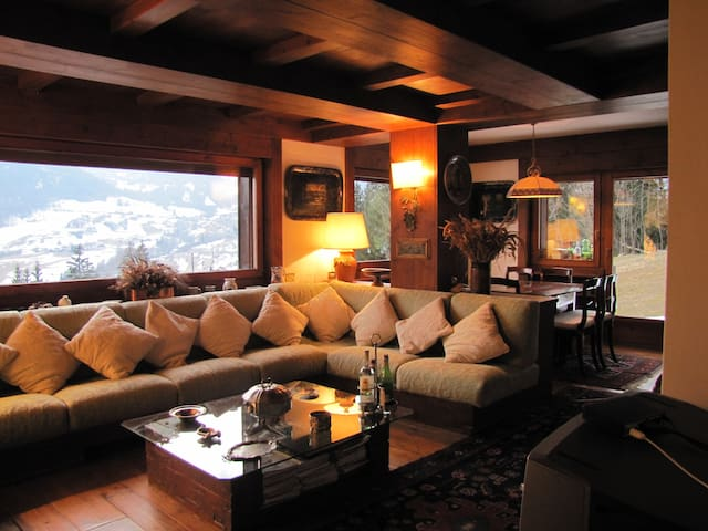 View of the living area towards the dining area