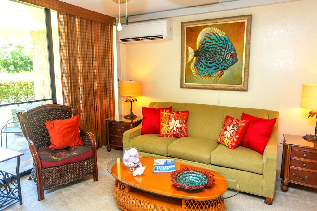 Cheery colors and comfortable living space