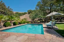 Who can resist a brilliant solar heater turquoise pool when the sun is overhead?