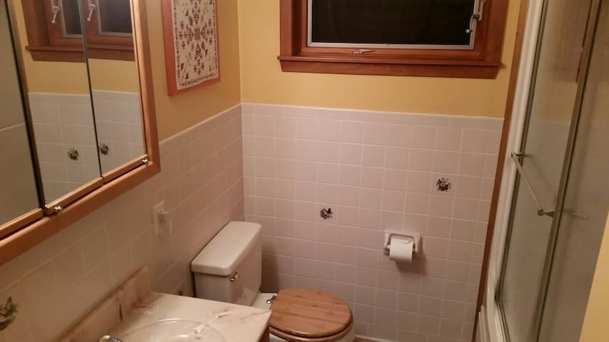 Jack and Jill bathroom, connecting the two bedrooms