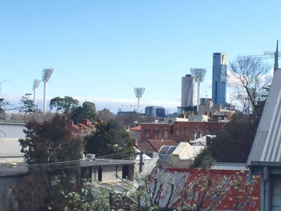View of the MCG from lounge room window