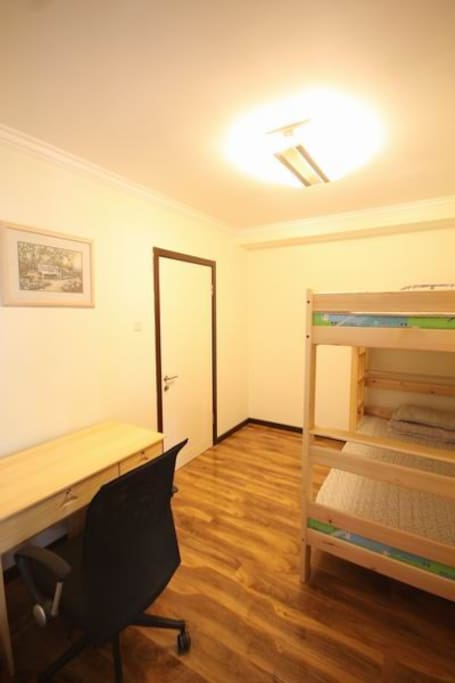 Single bunk beds room with a desk ,a wardrobe ,Wi-Fi      38USD  /per night