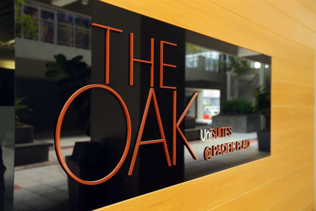 The entrance of The OAK Unisuites reception