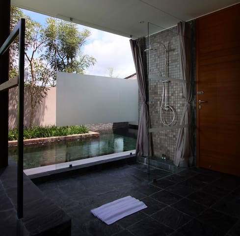 Bathroom and pool