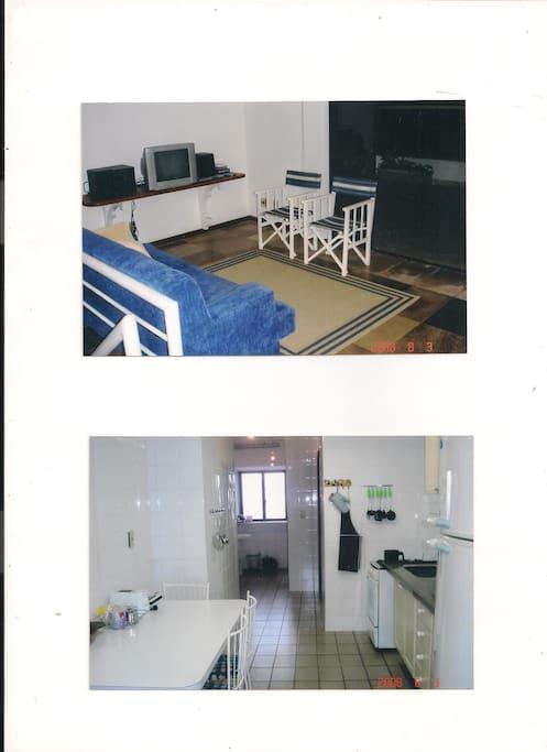 Sala de estar do 2º Piso e copa/cozinha