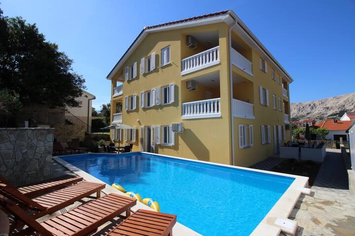 House GORICA I br.5 A4+1 K1 - Baška - Apartment
