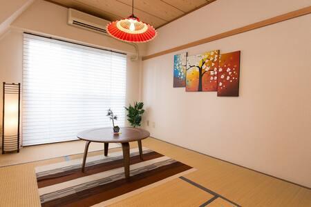 5 mins->Yoyogi STR 2BR 2beds 6pax - Shibuya-ku - Lägenhet