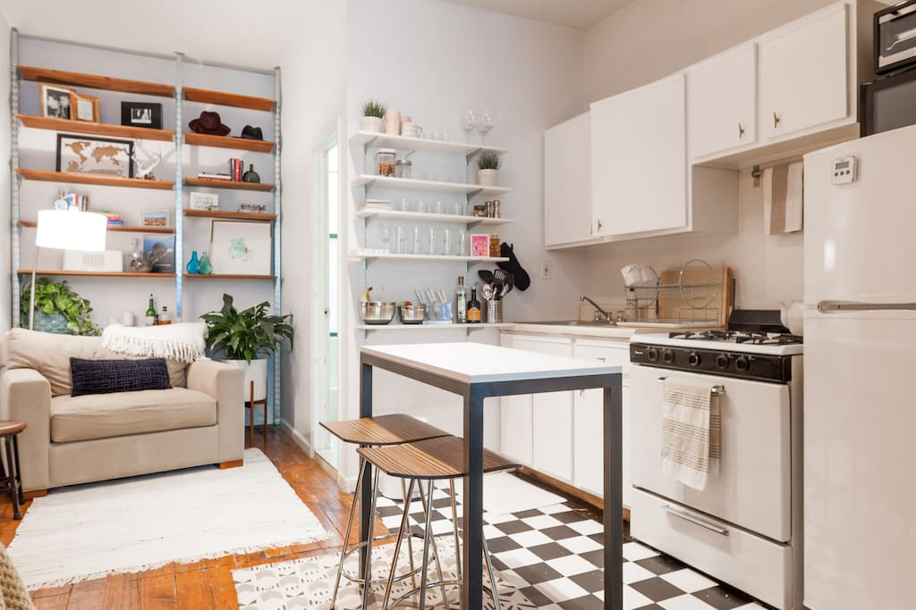 Open kitchen to use as your own.