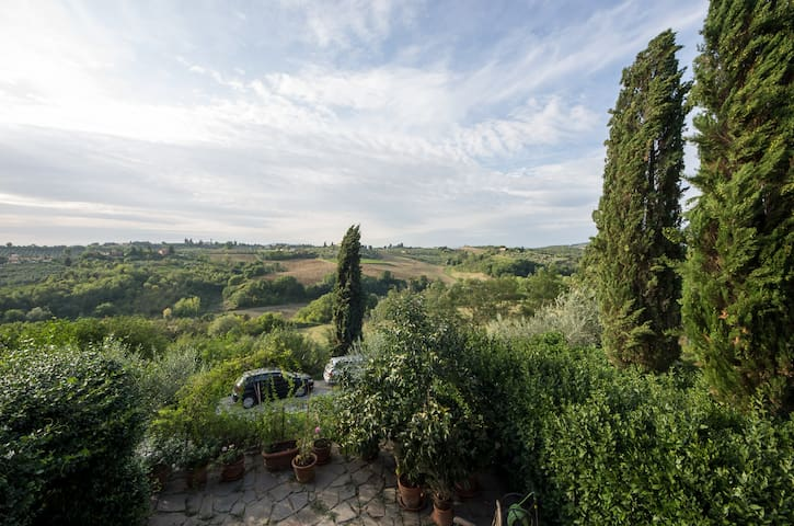 View of the country side from the terrazzo