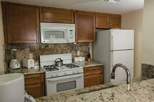 Fully equipped kitchen with everything you need to prepare and eat any meal.
