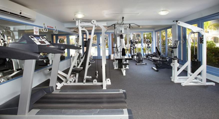 Every guest receives free access to the gym for your entire stay.