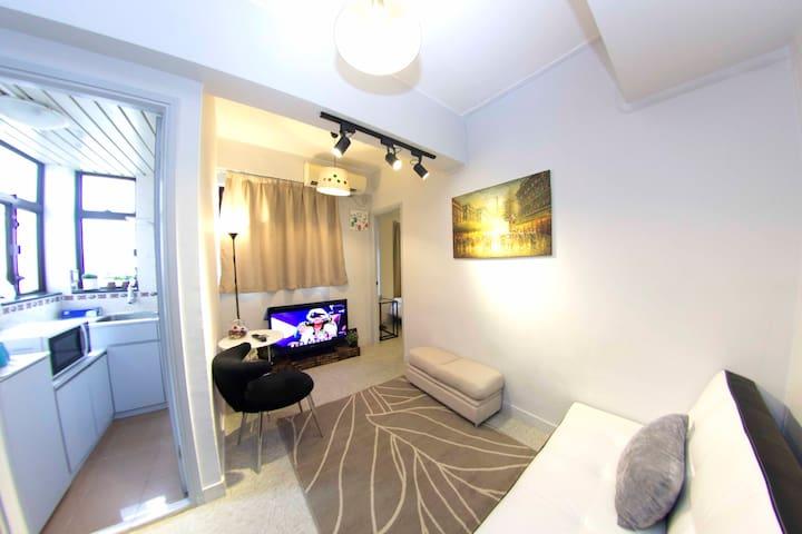 T01. 4pax TST MTR COZY Apartment - Hong Kong Tsim Sha Tsui