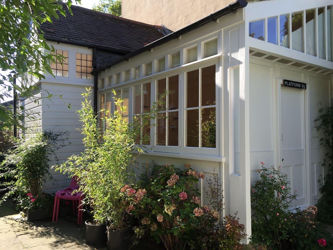 Outside view of the garden studio