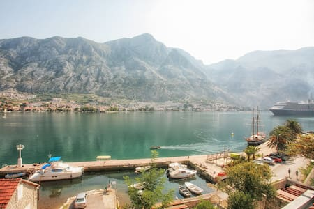 Studio with terrace,stunning view - Kotor - Pis