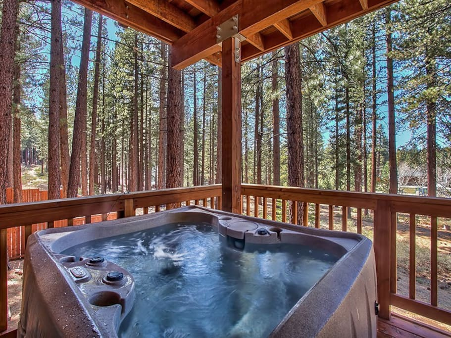 Jacuzzi hot tub for our guests to enjoy!