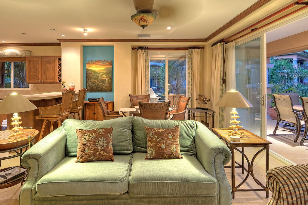 Comfortable living with ocean view.