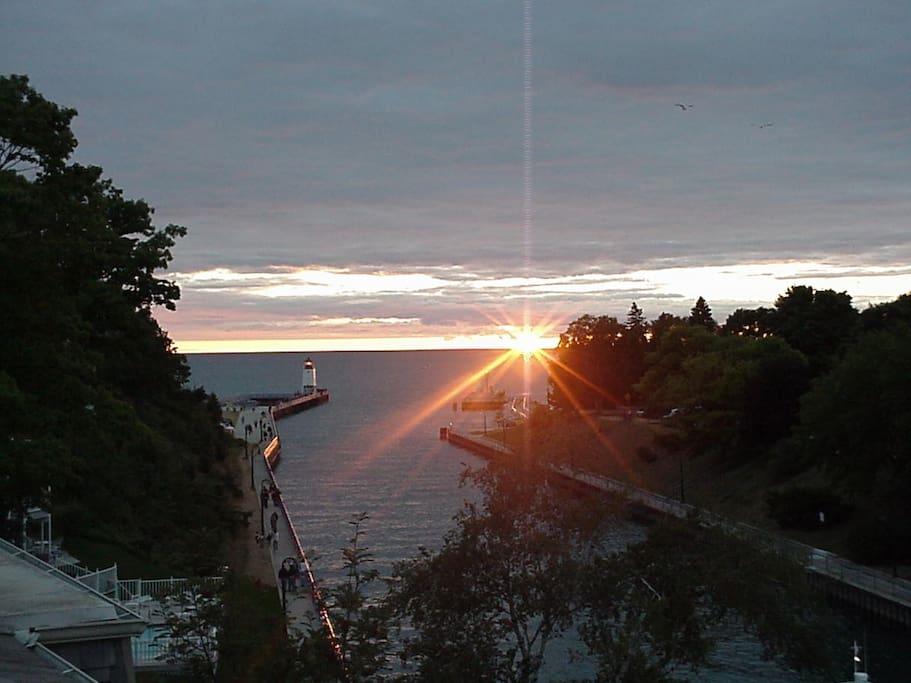Sunsets every night