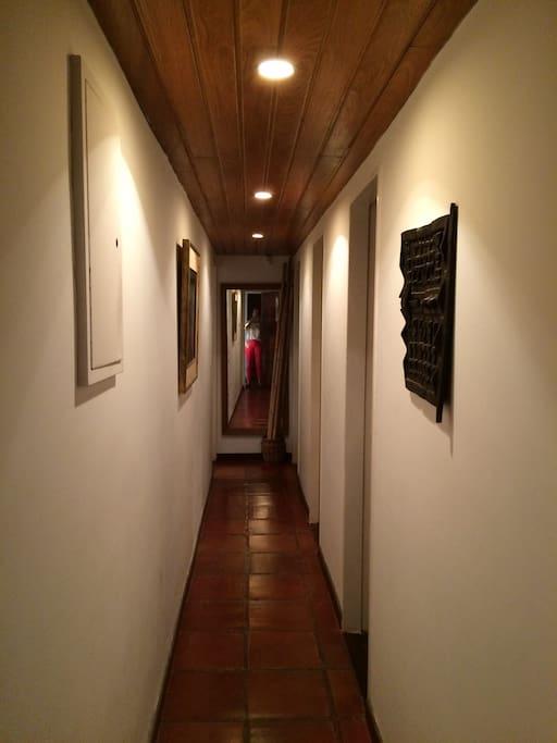 corredor dormitorios