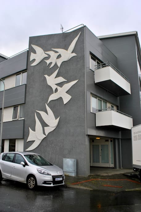 It's a new building in walking distance from the center of Reykjavik and the harbour.