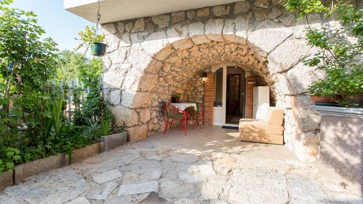 Studio Mari with a private terrace