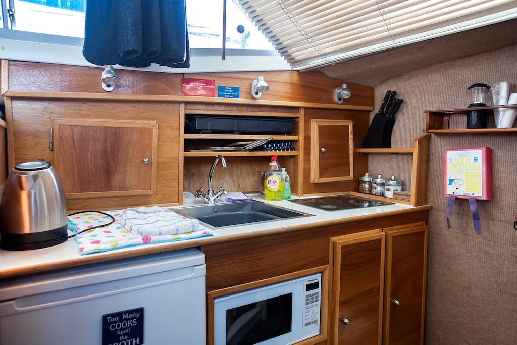 A small but functional galley