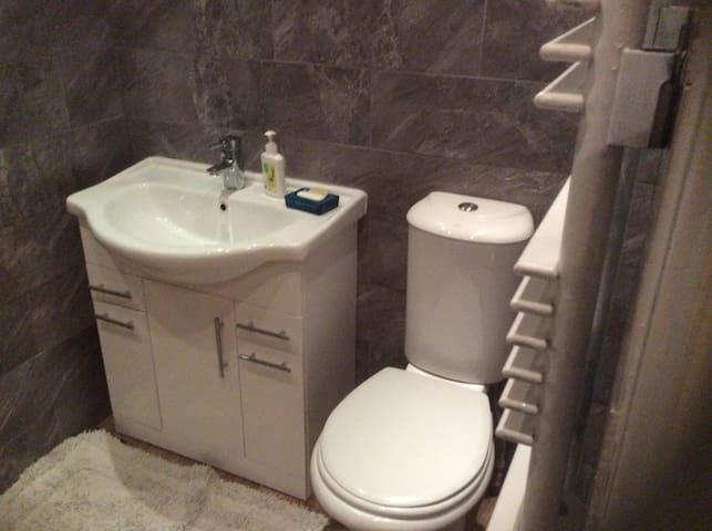 New updated family bathroom on 1st floor