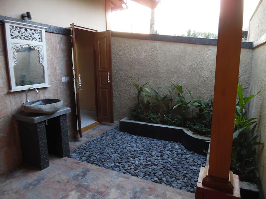 Semi open Bathroom