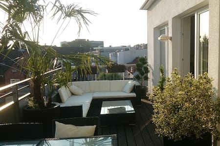 modern Penthous with big terrace - Hamburg - Apartmen