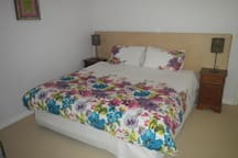 Very comfortable King bed or can be twin singles, extra long.