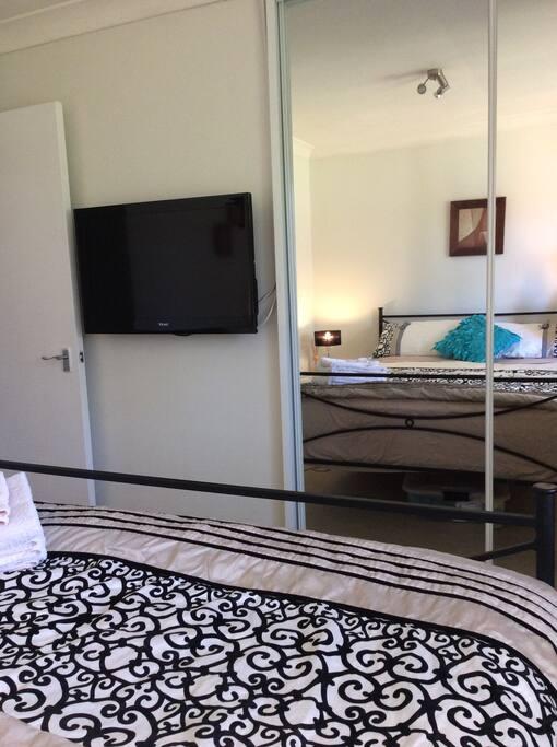 TV in bedroom.