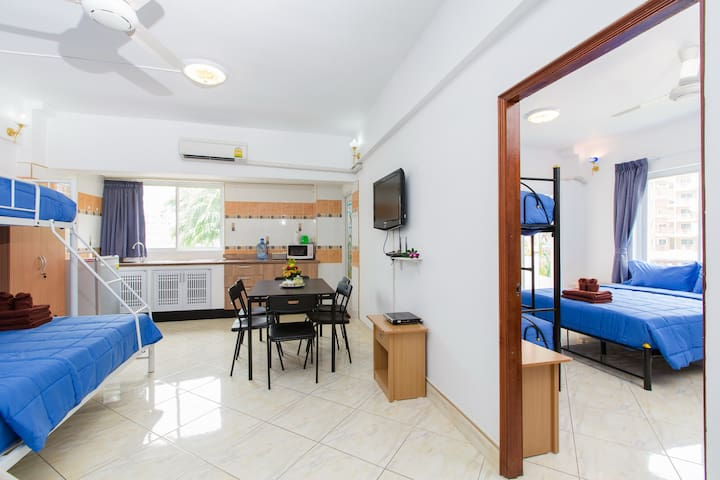 (O374) 1 bedroom apt for 13 guests - Patong - Lejlighed