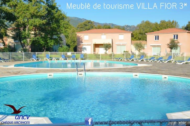 Villa 3* 800m mer 45km sud bastia Clim WiFi ANCV - Santa-Maria-Poggio - 別荘