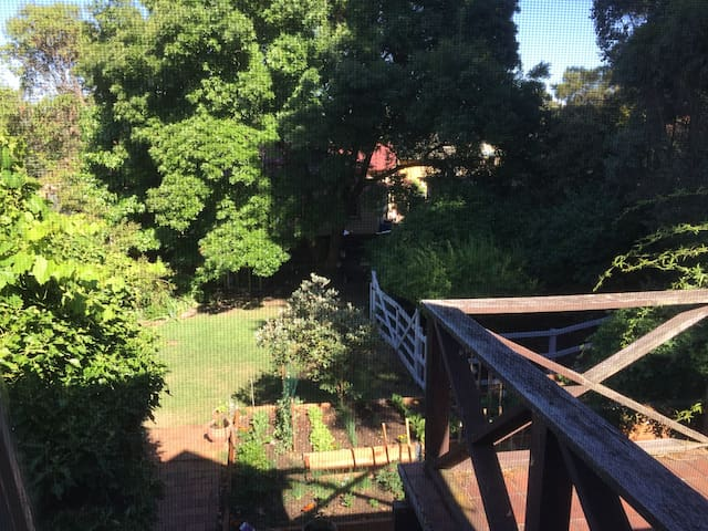 View of our garden from the first floor