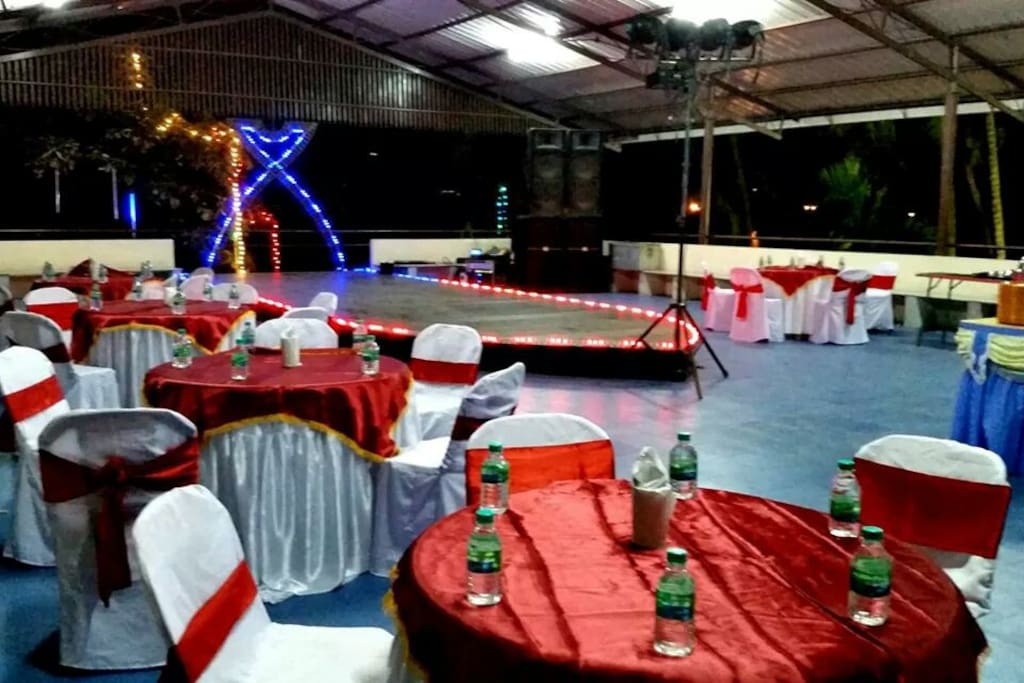 New year 2015 event at roof top hall.