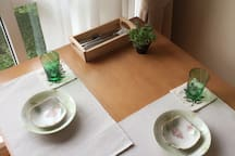 Full utensils prepared for you to enjoy using dining in-room should you fancy an eat-in :)