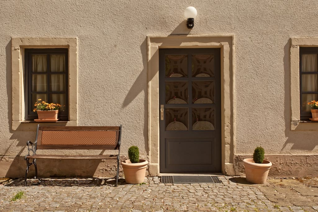 Eingangstür der Gästewohnung