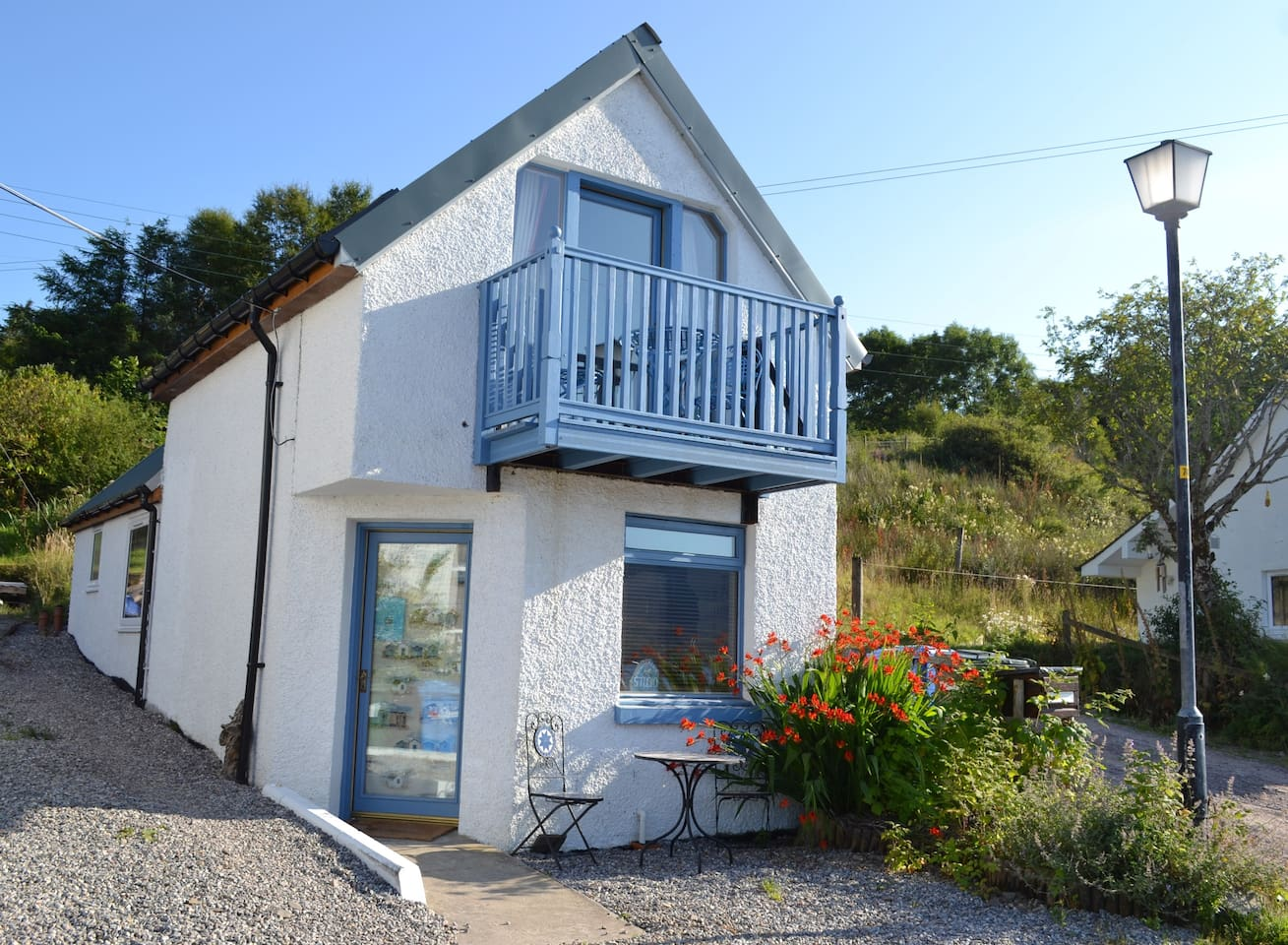Craigellachie seaside studio is self contained and detached - with fabulous sea and mountain views