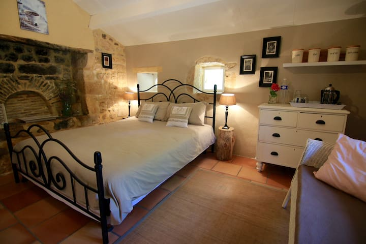 Cosy charming room in annex, country side & pool - Pontours - Casa