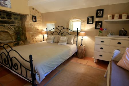 Cosy charming room in annex, country side & pool - Pontours - Σπίτι