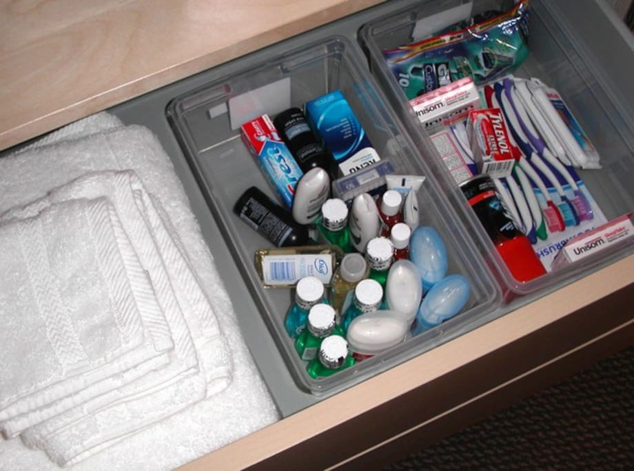 Towels and Amenities