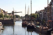 Right around the corner of beautiful, picturesced 'Historical Delfshaven'...