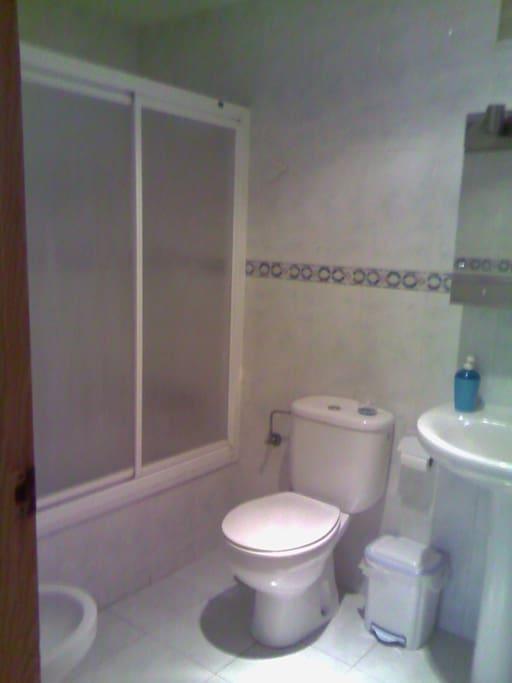Bathroom opposite the room.
