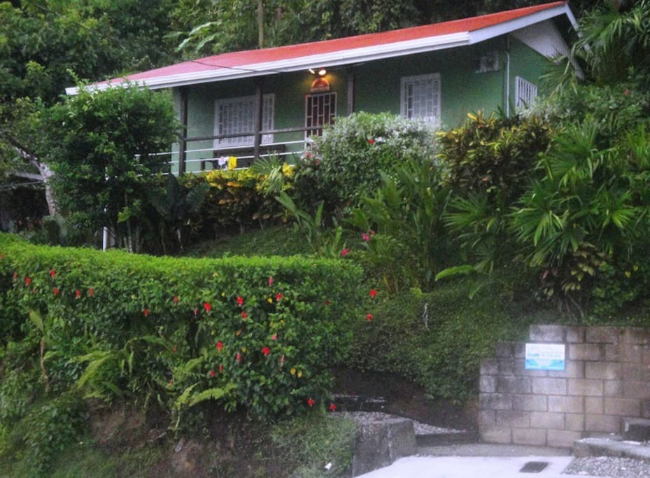 """Cottage home """"Casita"""" from street view."""