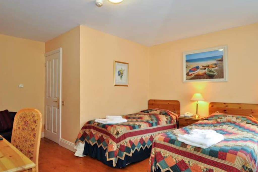 View of Room 4 Boffin Lodge which is pet friendly. In twin mode in this shot