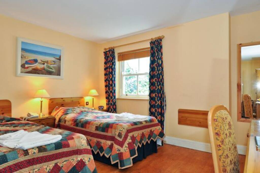 Another view of our pet friendly room in twin mode layout
