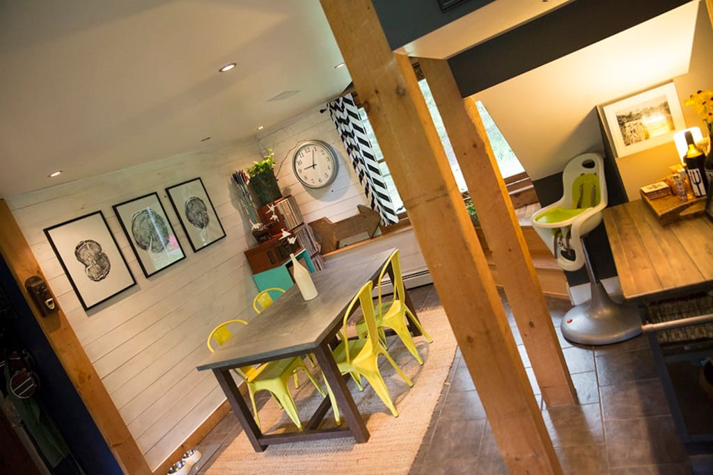 bright dining area (highchair available)