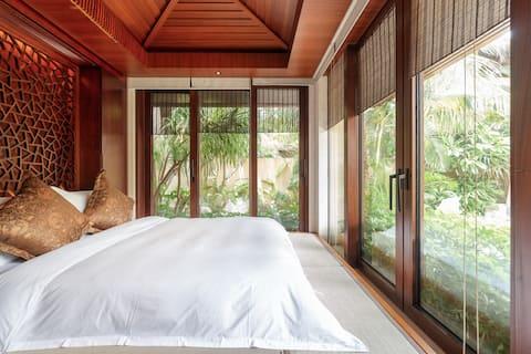 『新房特惠』三亚香水湾1号|私人泳池|豪华派对|花筑•君临海逸榻榻米泳池别墅