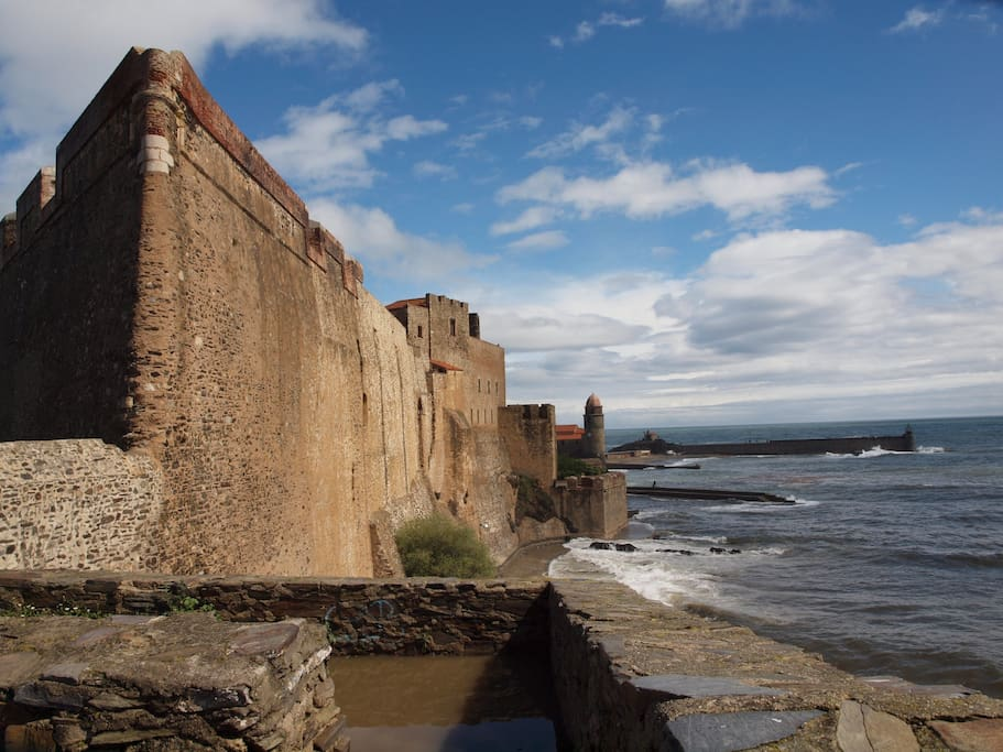 The Castle in the centre of Collioure
